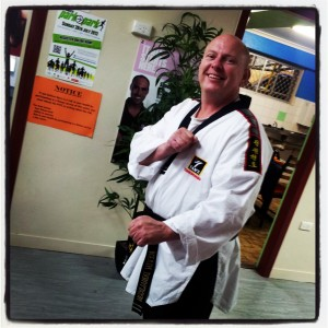 Black belt instructor Kevin Donaldson