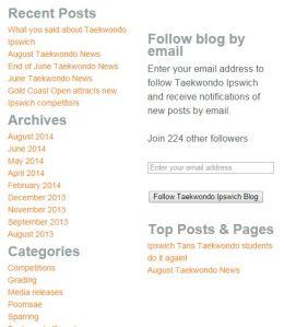 Taekwondo Ipswich blog